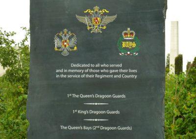 Queens Dragoon Guards Memorial - The National Memorial Arboretum (13)