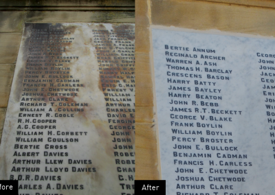 Oswestry War Memorial Plaques